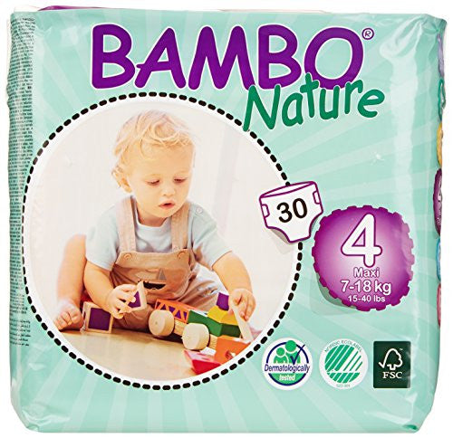 Bambo Nature Premium Baby Diapers, Size 4 (7-18kg)