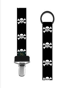 Elodie Details Pacifier Clip - Jolly Black