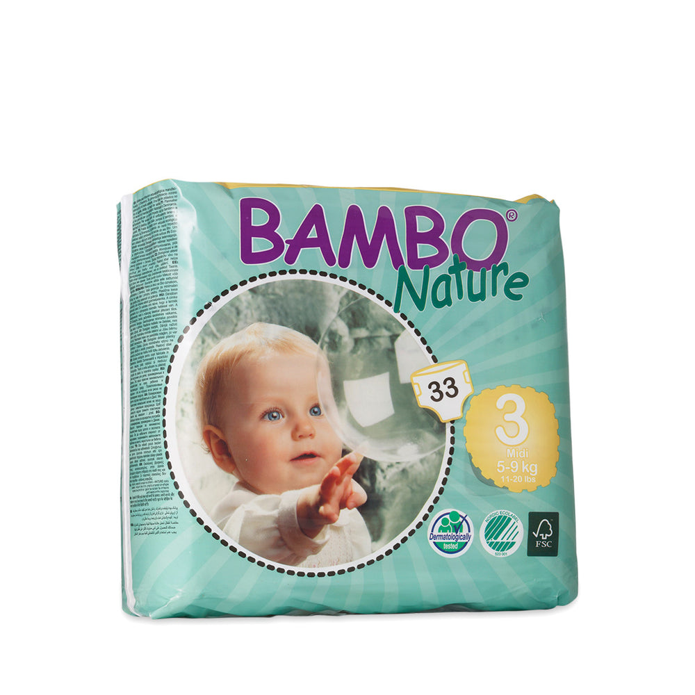 BAMBO NATURE Premium Baby Diapers, Size 3 (5-9kg)
