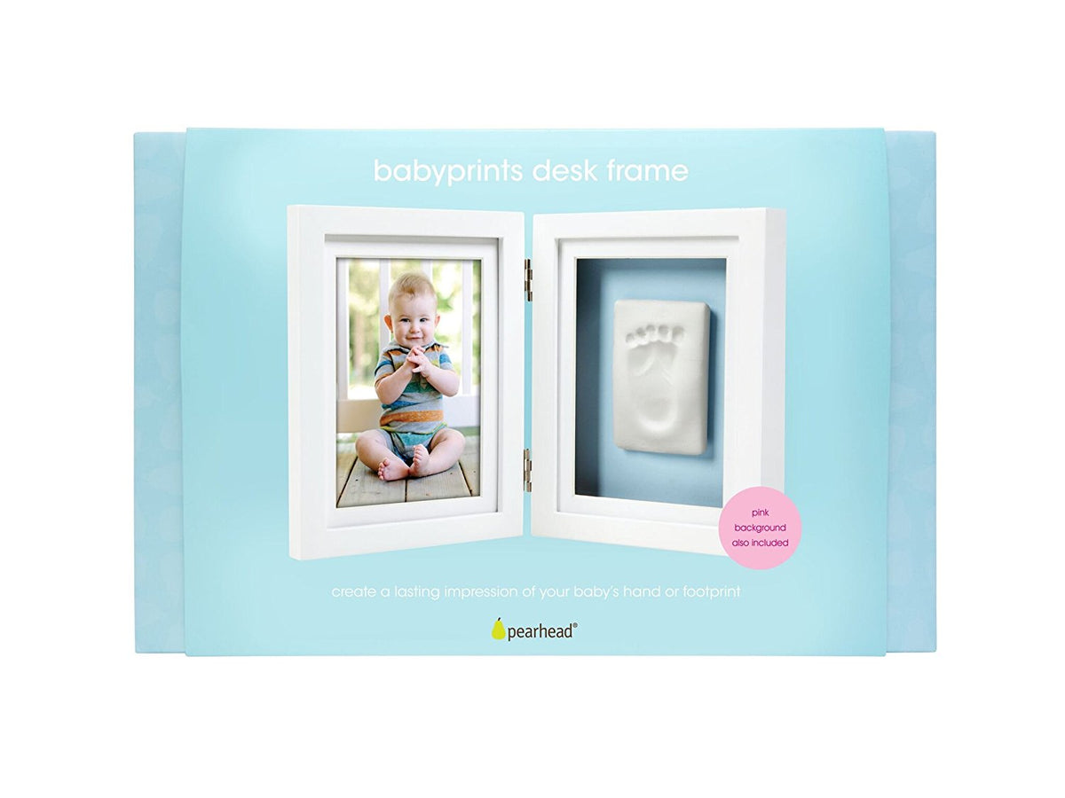 Pearhead - White Babyprints Desktop Frame