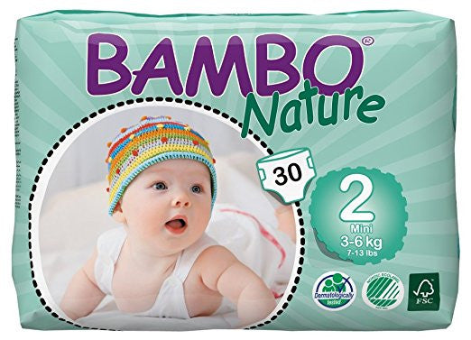 Bambo Nature Premium Baby Diapers, Mini, size 2 (3-6kg)