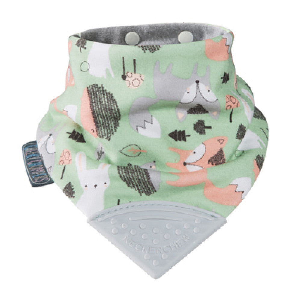 Neckerchew Bib Teether Fox & Friend