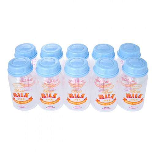 Autumnz Breastmilk Storage Bottles (10pcs) - Blue
