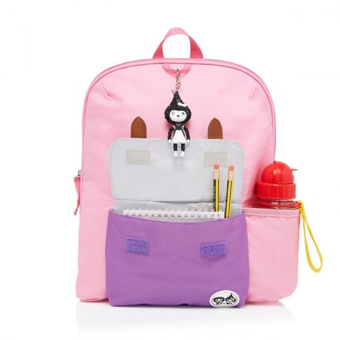 ZnZ Kid's Pink Colour Block Backpack