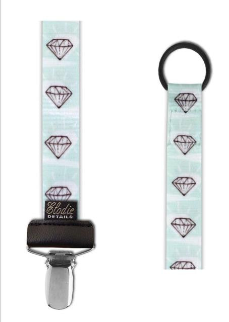 Pacifier Clip - Diamond Love ON CLEARANCE