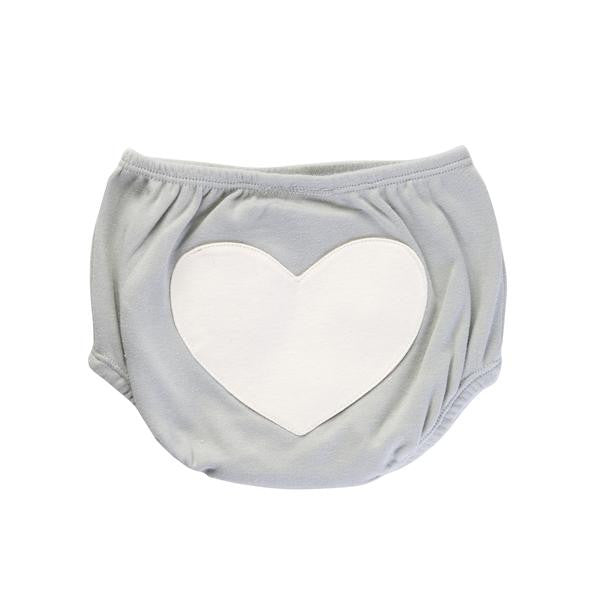 Jaime King for Sapling Dove Grey Heart Bloomers