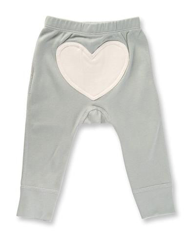 Jaime King for Sapling Dove Grey Heart Pants