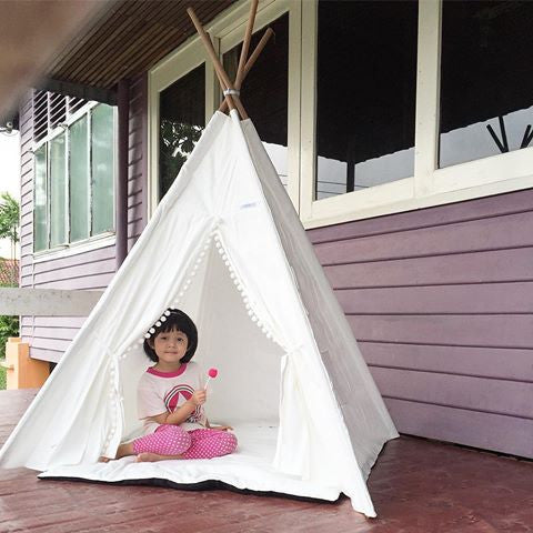 Kiszydoll Teepee 4 Pole with Pompom