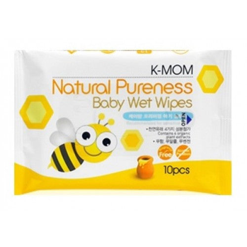 K-Mom Natural Pureness Baby Wet Wipes -10pcs