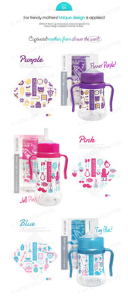 Mother-K 3 in 1 Feeding Cup 300ml (Tritan)