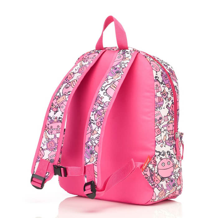 ZnZ Kid's Robot Pink Backpack