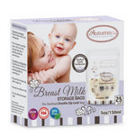 AUTUMNZ Double ZipLock Breastmilk Storage Bag (25 pcs) - 5oz