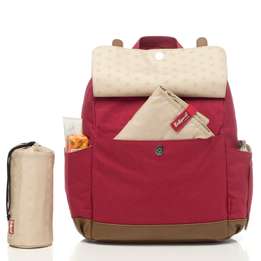 BabyMel Robyn Convertible Backpack - Red