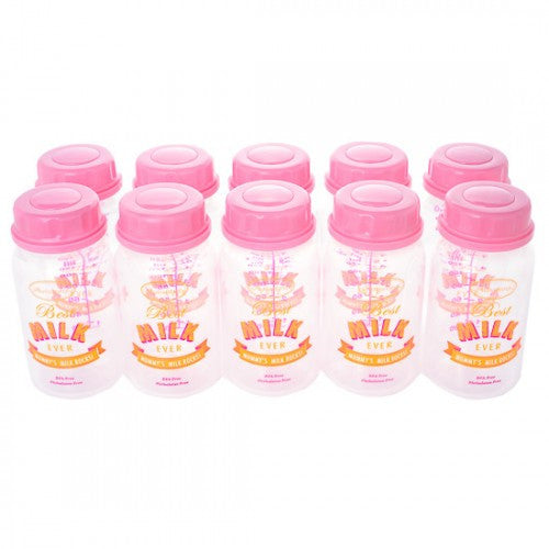 Autumnz Breastmilk Storage Bottles (10pcs) - Pink