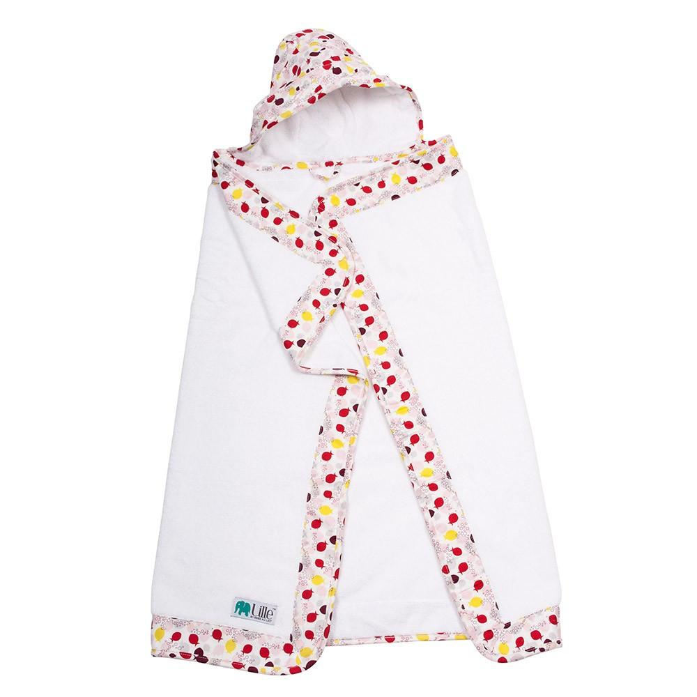 Lille Hooded Towel - Fishies Girl