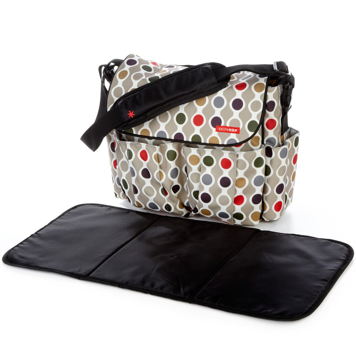 Skip Hop Duo Essential Diaper Bag - Wave Dot