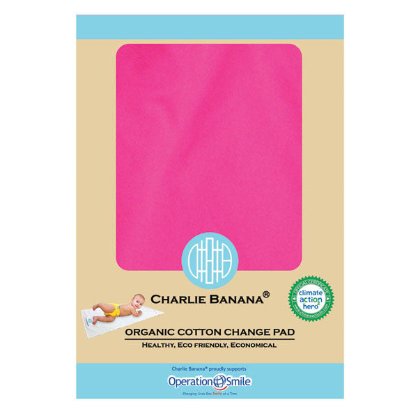 Charlie Banana Organic Cotton Change Pad - Plain Hot Pink