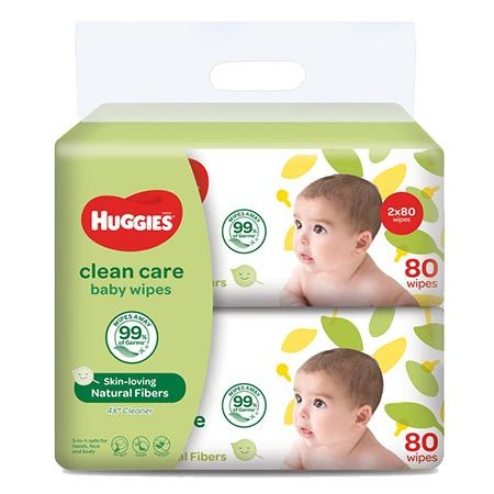 Baby Wipes Clean Care 80s x 2pack