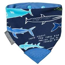 Neckerchew Bib Teether Sharks BB