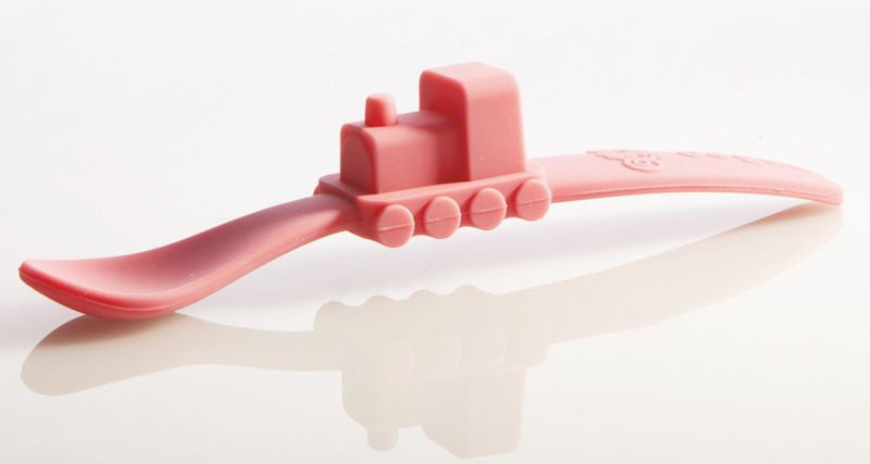 Oogaa - Silicone Baby Spoon (Pink)