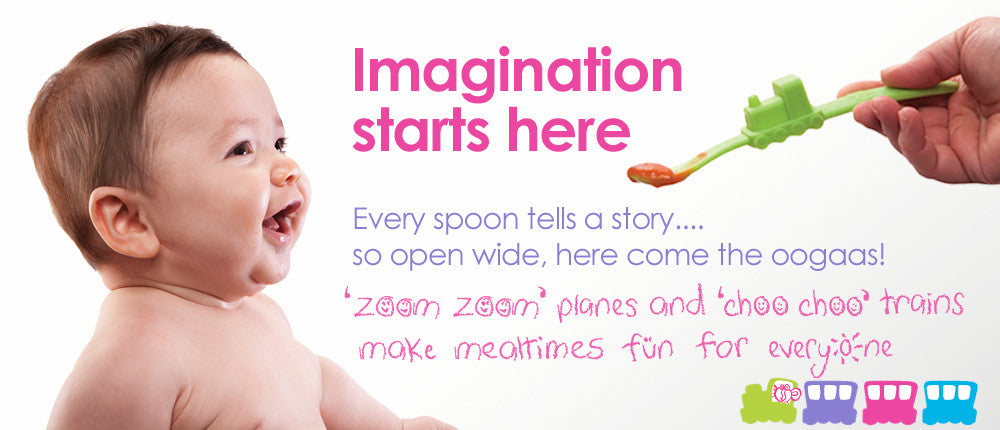 Oogaa - Silicone Baby Spoon (Blue)