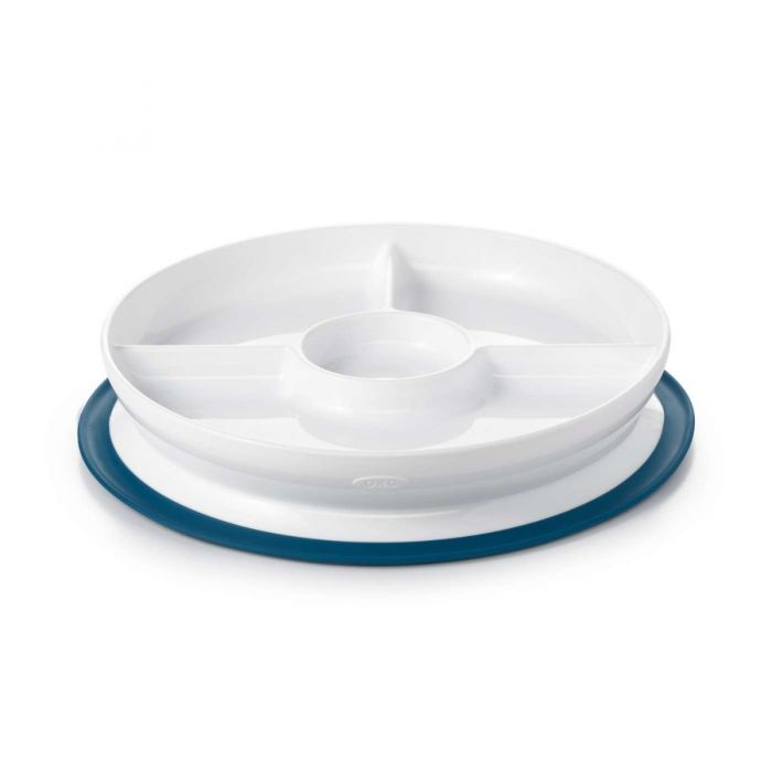 OXOtot Stick & Stay Suction Divided Plate ON CLEARANCE