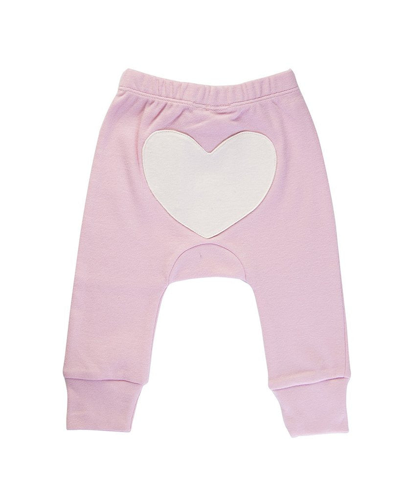 Jaime King for Sapling Dusty Pink Heart Pants
