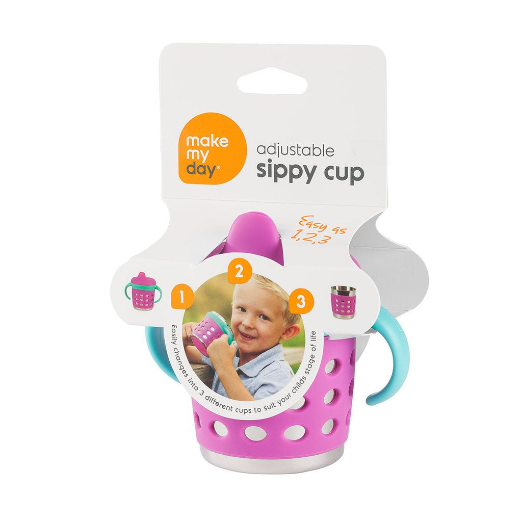 Make My Day - Sippy Cup - Blue/Purple