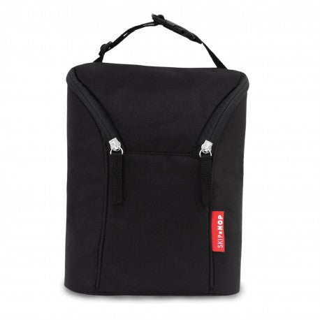 Skip Hop Grab And Go Double Bottle Bag - Black