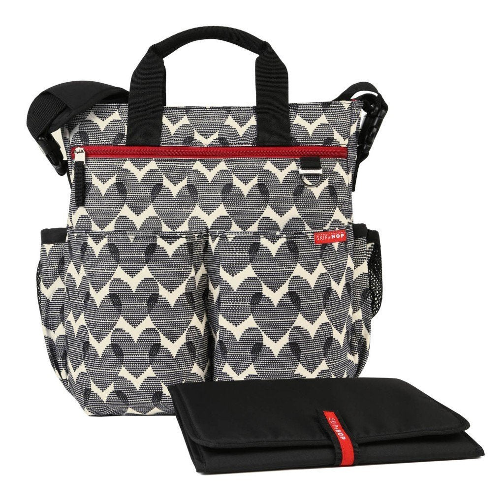 Duo Essential Diaper Bag - Hearts