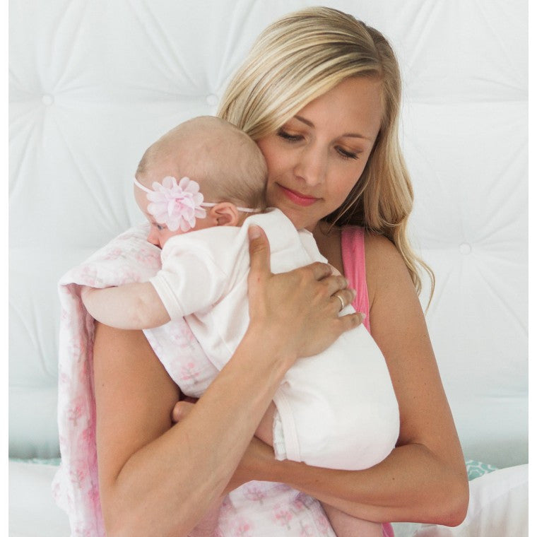 Swaddle Designs - Muslin Swaddle Blanket - Pink Thicket