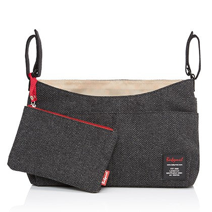 BabyMel Stroller Organiser - Tweed Grey