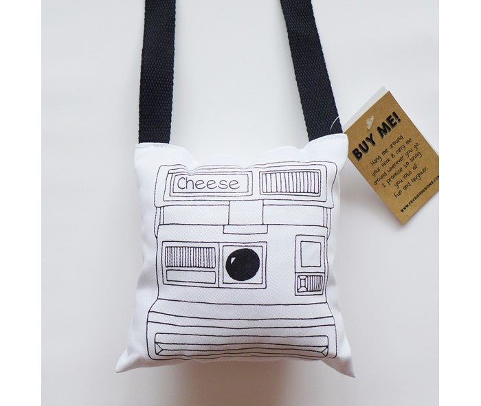 Fevrier Designs - Cheese Polaroid Plush Camera