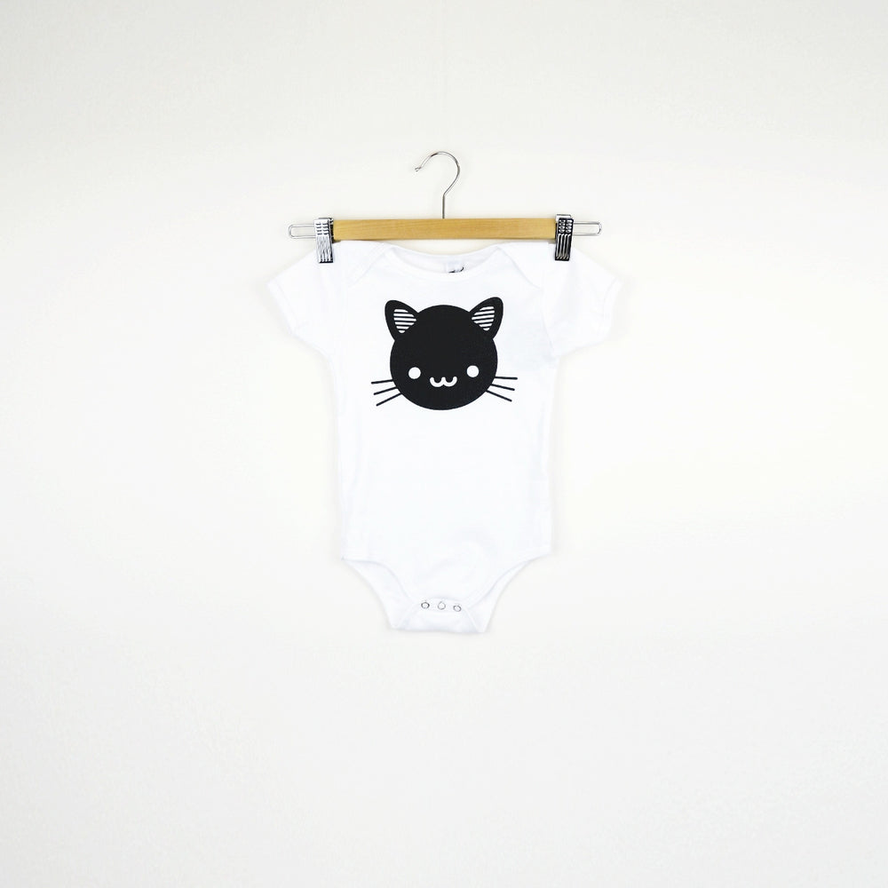 Whistle & Flute Romper - Kawaii Black Cat