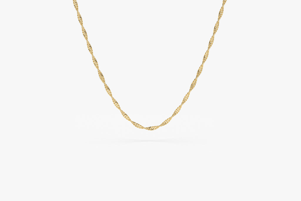 14K Gold Singapore Chain Necklace