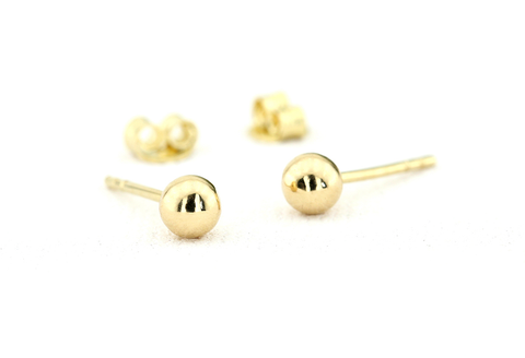 14k Gold Ball Stud Earrings - Ferkos Fine Jewelry