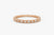 14k Baguette & Round Diamond Milgrain Bezel Full Eternity Ring - Ferkos Fine Jewelry
