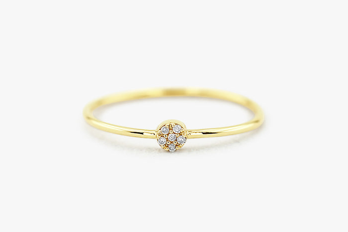 14K Gold and Diamond Cluster Ring - Ferkos Fine Jewelry