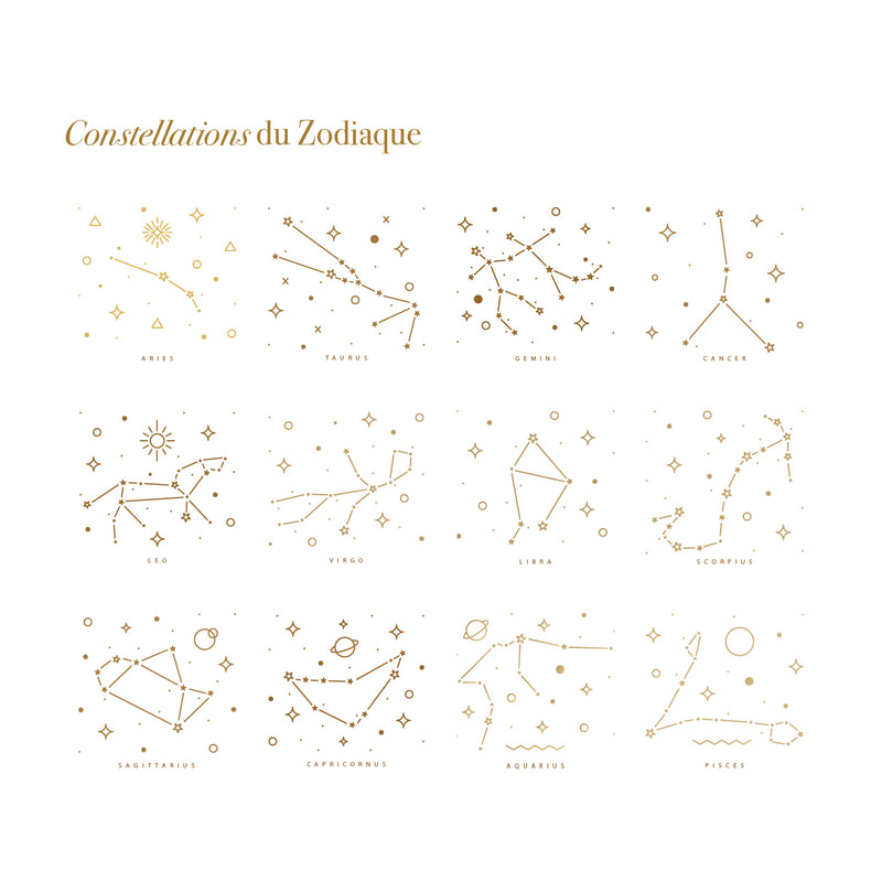 Collier constellation du Zodiaque-waekura-bijoux plaque or
