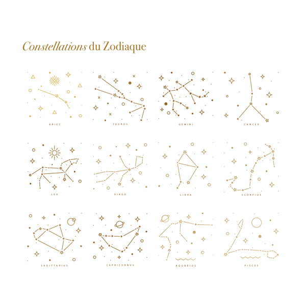 Bracelet constellation du Zodiaque-waekura-bijoux plaque or
