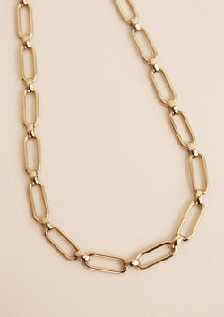Collier maille large rectangle