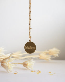 Collier Madame-waekura-bijoux plaque or
