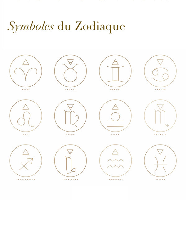Collier symbole du Zodiaque-waekura-bijoux plaque or