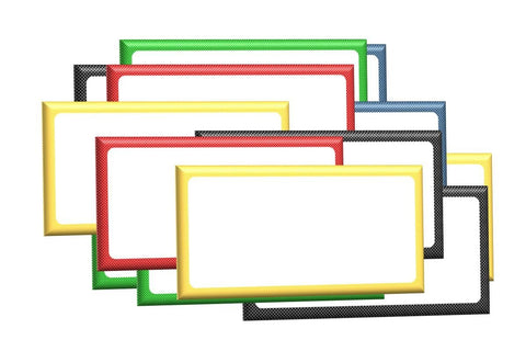 "1"" x 2"" Magnetic Labels White Board Accents 30 Labels 5 Colors"
