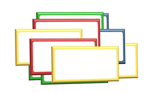 "2"" x 6"" Magnetic Labels White Board Accents / Magnetic Name Plates 20 Labels 4 Colors"