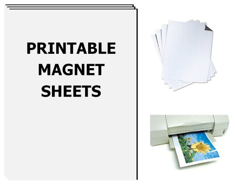Printable Magnet Sheets, 8.5 X 11 Inches, White, 25 sheets - 15 Mil thick