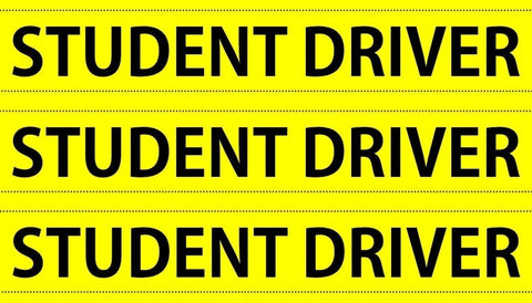 Set of 3 Small Student Driver Magnets
