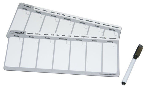 Promag 4.25 X 11 Inches Weekly Dry Erase Magnetic Calendar