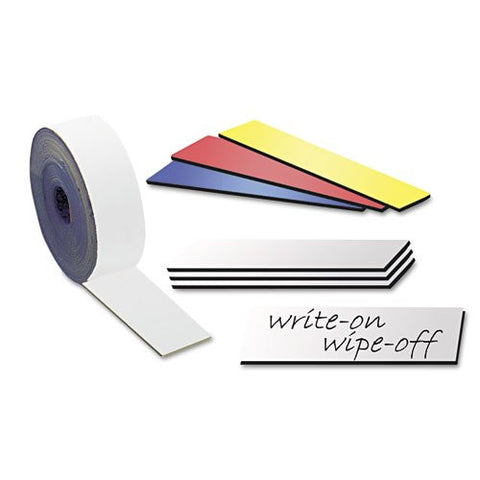 "DRY ERASE MAGNETIC SHELF LABELS 1"" X 5"""