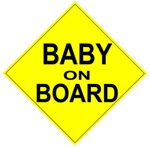 "Baby on Board Magnet - Reflective Car Magnet - 7.5"" X 7.5"" Magnetic Car Sign"